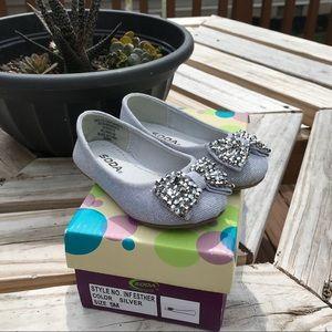 Soda Esther Silver Metallic Toddler Dress Shoes